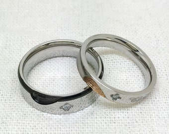 2pc, personalized ring, promise ring, couple ring, promise rings, couoples ring,, free engraving