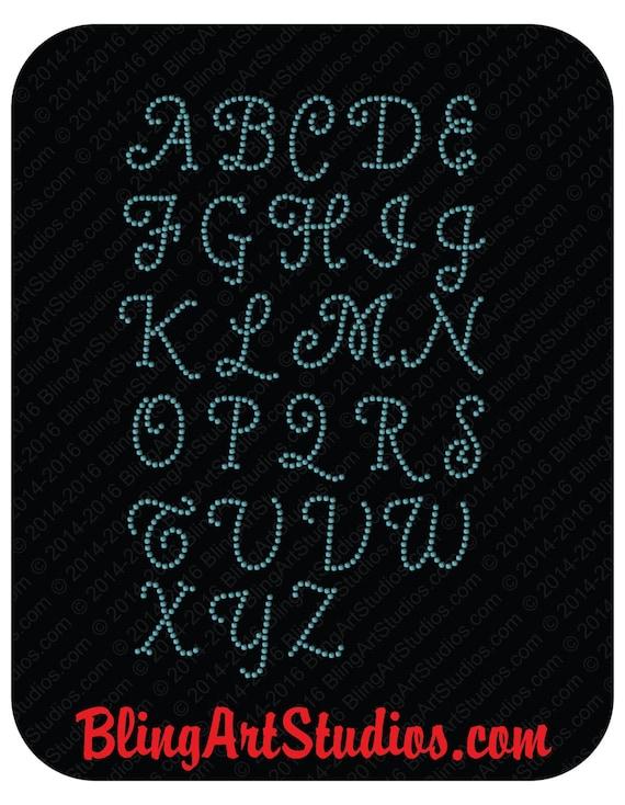 Rhinestone decal quot alphabet decals letter