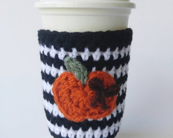 Teacher Gift - Crochet Coffee Cup Sleeve - Staff Appreciation - To Go Cup Sleeve - Reusable Coffee Sleeve - Eco Friendly - Coffee Cup Sleeve