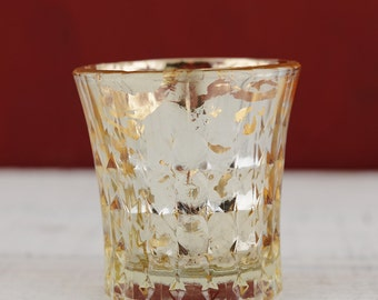 12 Champagne Mercury Glass Votive Candle Holder