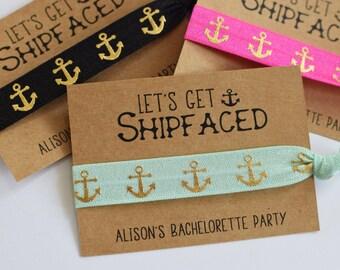 Bachelorette Party Favors//Let's Get Ship Faced//Nautical Bachelorette PartyElastic Hair Tie//Creaseless Hair Tie