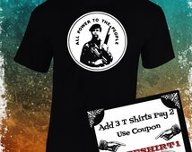 Black Panthers Party T Shirt!!!! Huey P. Newton!!! Screen Printing over cotton!!!