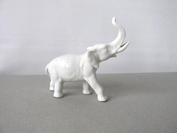 Vintage Gr Fenthal Porcelain Elephant Figurine White