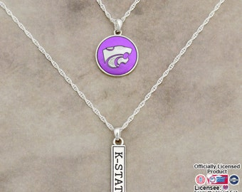 Kansas State Wildcats Double Down Necklace - KSU57795