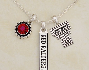 Texas Tech Red Raiders Triple Charm Necklace