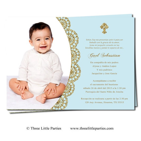 Spanish Or English Baptism Invitation Printable Invitacion