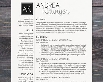 Resume templates professional marketing by theshinedesignstudio resume template cv template word for mac or pc professional cover letter pronofoot35fo Image collections