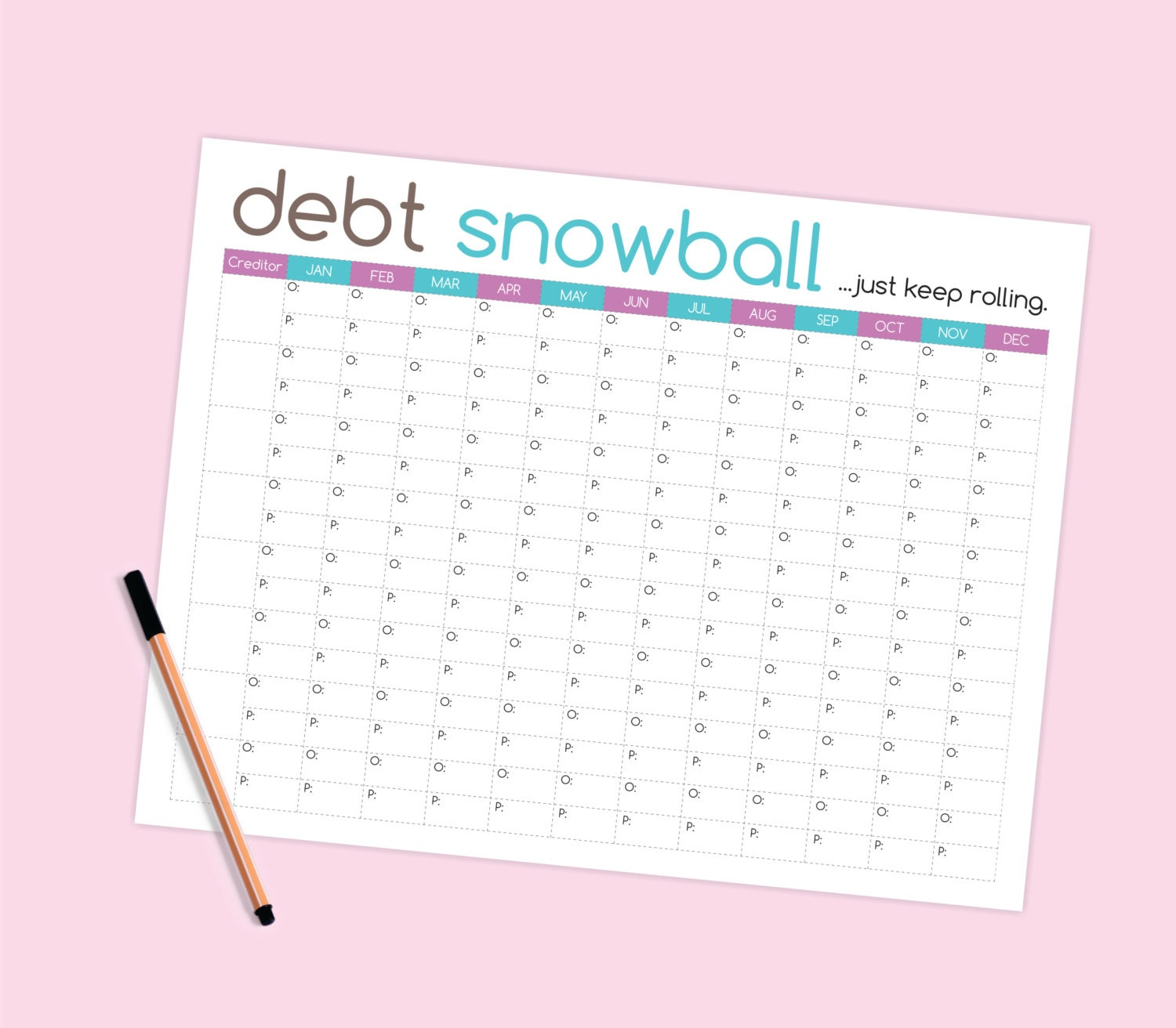 Debt Snowball Worksheet Budget Printable – Snowball Debt Worksheet