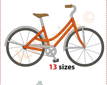 Bicycle Embroidery Design. Embroidery designs bicycle. Bike embroidery design. Cycle embroidery design. Embroidery Machine embroidery design