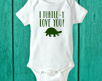 I Turtle-y Love You | Baby Bodysuit | By The Sea Baby Bodysuit | Baby Boy Clothing | Baby Shower Gifts | Baby Boy Turtle | Turtle Bodysuits