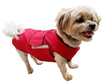 Shih Tzu Winter Dog Coat with underbelly protection - Dog Jacket - Warm Dog Raincoat - Waterproof / Fleece coat - Custom made for your dog