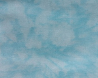 """Blue/White quilting fabric """"Handspray"""" by RJR Fabrics. Sold by 1/2 yard"""