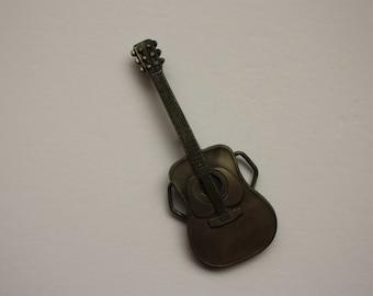 Guitar Belt Buckle - Men's Belt Buckle - Acoustic Guitar - Indiana Metal craft buckle L70