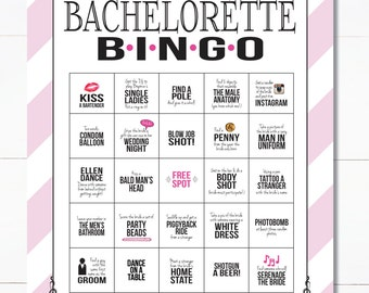 Bachelorette Party Game INSTANT DOWNLOAD! Printable Bachelorette Bingo Game for Bachelorette Party/Hen Party