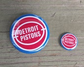 Detroit Pistons 1- or 2.25-inch pinback button