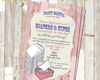 Digital File Only *** Customizable Baby Shower Invite
