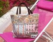 Beach totes, Gustav Klimt printed canvas bag, handbag for women, casual chic handbags, handmade canvas totes