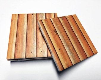 Wood Design Coasters - Wood Decor - Wood Art - Drink Coasters - Tile Coasters - Ceramic Coasters - Table Coasters