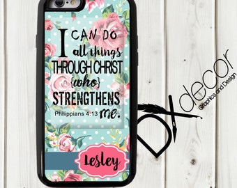 I can do all things phone case, Picture Phone Cover, Custom iphone cover, Personalized cell phone case, Custom Iphone 6+ case
