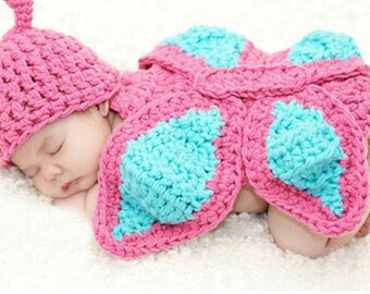 Butterfly Crochet Photo Prop Outfit