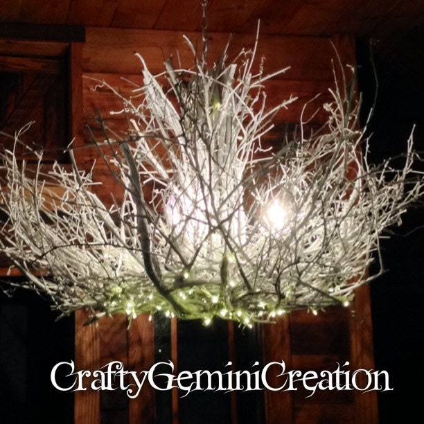 Shenandoah 5 1 Down Light Rustic Chandelier Twig: Reserved For Samara White Mountain 3 By CraftyGeminiCreation