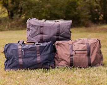 Men's Monogrammed Duffle Bag   Groomsmen Gift   Men's Travel Bag   Monogrammed Weekender   Men's Overnight Bag   Gifts for Him   Beau