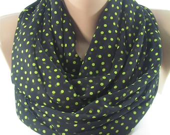 Polka Dots Scarf Shawl Women Fashion Accessories Infinity Scarf Circle Scarf Valentines Day Gift For Her Mothers Day Gift For Mom Christmas