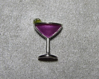MARTINI IN GLASS Metal Floating Charms  Locket Glass Locket Charms For Locket Necklace 9X10mm