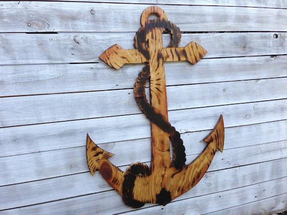 Large Anchor Wall Decor large anchor wall art outdoor anchor sign beach house decor