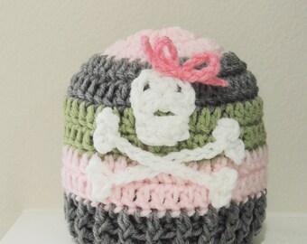 Crochet Skull hat, Luv Beanies, Skull Hats, sugar skull hat, baby girl beanies, baby hats, girl beanie, skull beanies, baby beanies
