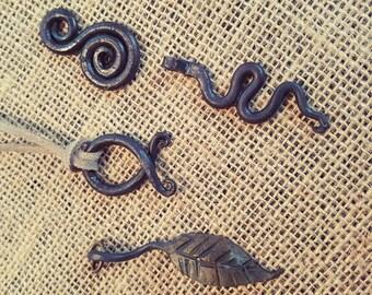 Hand Forged Iron Pendant.