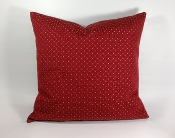 Red Pillow Cover,English Cottage Pillow Cover,English Pillow Cover,French Country Pillow Cover,French Country Pillows,Southern Pillows,