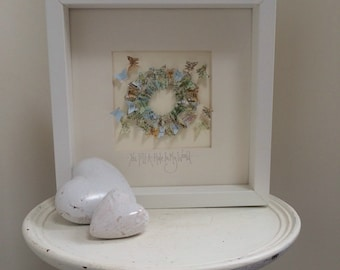 Handmade atlas print butterfly picture