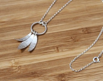 Dreamcatcher Sterling silver Hammer texture Necklace