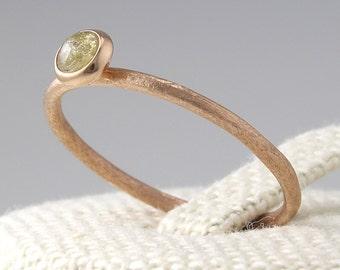 Rosecut Diamond  Engagement Ring , Engagement Ring, Simple Diamond Ring, Solid 14K Gold, Wedding Band, Stacking Ring,