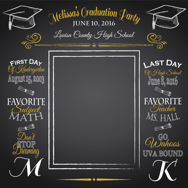 Graduation Backdrop: Graduation Backdrop Custom Wording By ImpressionPrints On Etsy