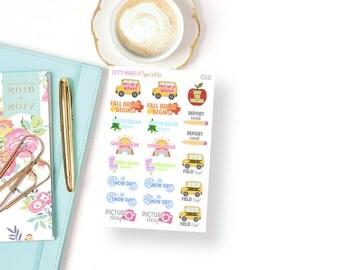 School Events Planner Stickers // 056