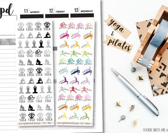 Yoga or Pilates Stickers - Planner Stickers - FS23