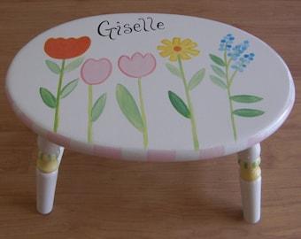 oval flower step stool