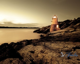 Limited Edition ~ Vintage Castle Hill Lighthouse ~ Newport, RI, Fine Art Canvas, New England, Seascape, Coastal, Fine Art Photography Joules
