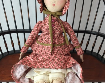 Old Fashioned Lady Doll. Cloth Doll. Art doll.