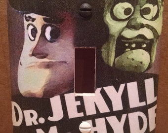 Mad Monster Party Dr. Jekyll and Mr. Hyde Light Switch Cover (Handmade, Claymation, Horror)
