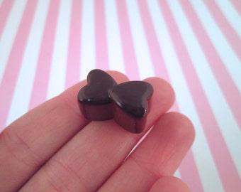 Chocolate  Heart Candy Kawaii Decoden Cabochons, #120b