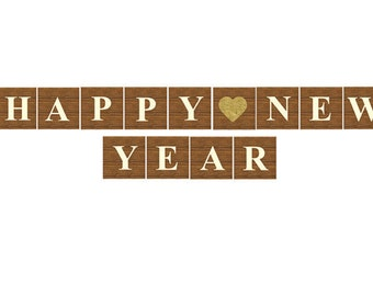 PRINTABLE Happy New Year Banner, Printable File