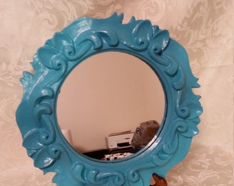 Scrolled Turquoise Mirror