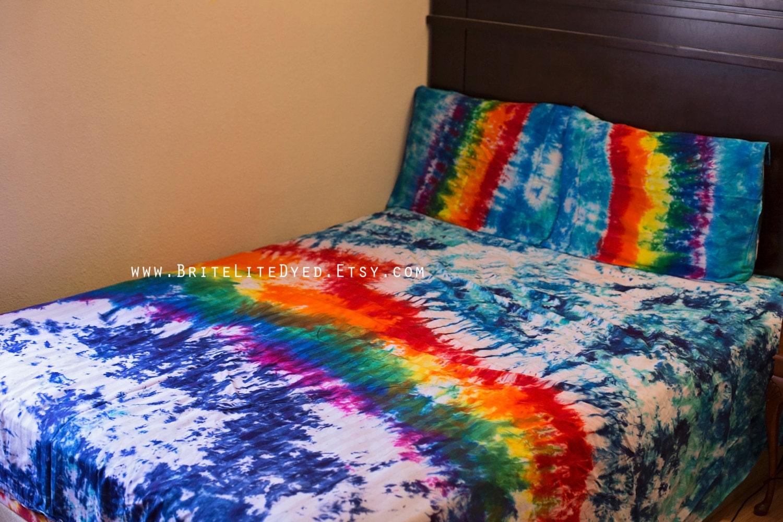 Tie dye duvet set tie dye comforter tie dye by britelitedyed - Tie and dye colore ...