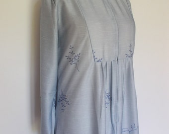 Vintage dressing gown robe Jean Jerrard Fashions 70s Floral House Coat dressing gown robe size XL to large