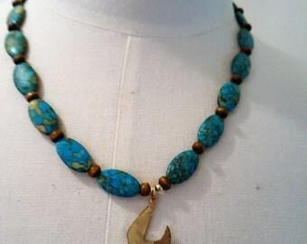 Free bird turquoise necklace