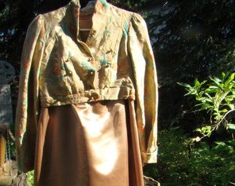 Jane Austen Era Gown and Jacket - SIze 14