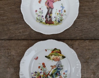 Two Vintage 1970's Gottschlich Vizavi Children Collectable Plates